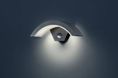 trio leuchten led au en wandleuchte ohio in aluminiumguss anthrazit aussenlampe mit. Black Bedroom Furniture Sets. Home Design Ideas