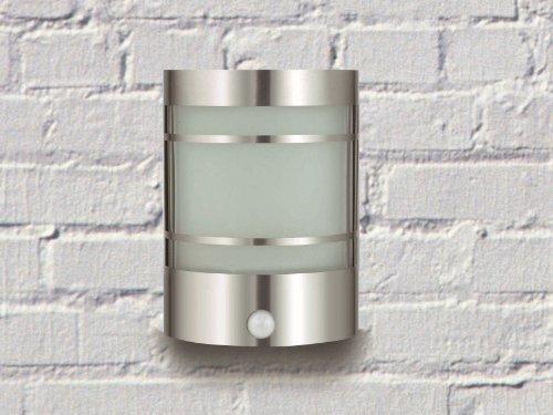 edle wand au enlampe edelstahl echtglas aussenlampe mit. Black Bedroom Furniture Sets. Home Design Ideas