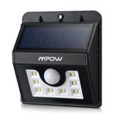 Mpow Solarleuchte 8 LED Solarlampe Sicherheits-, Bewegungs Licht Sensor mit 3 Intelligenten Modi für Garten usw. - 1